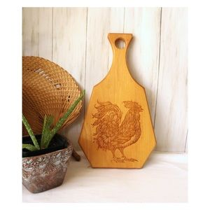 Rooster Wood Cutting Board Hanging Decor